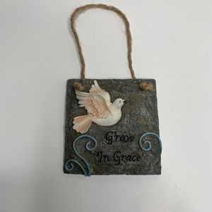 Other - Grow In Grace Porcelain Wall Decor
